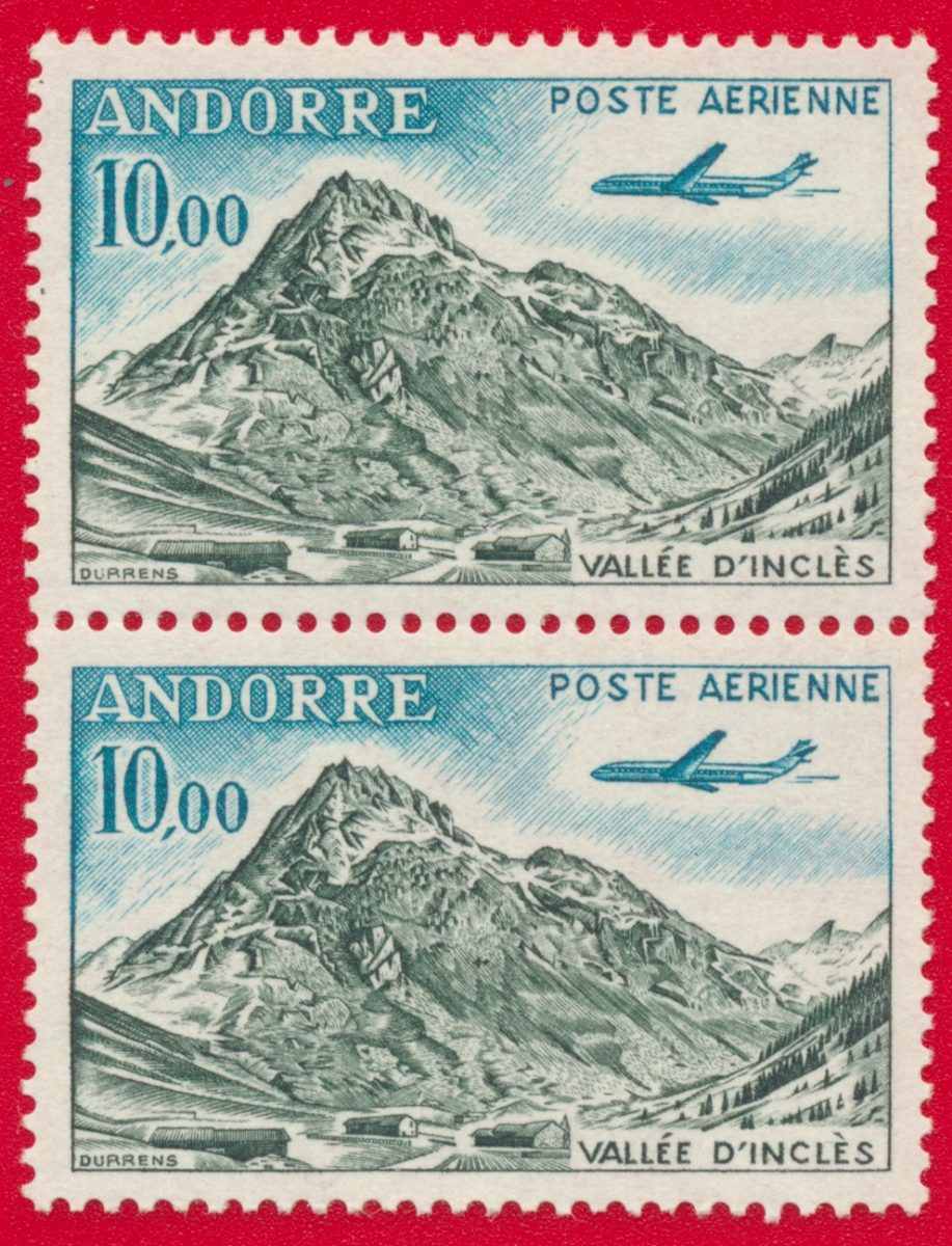 andorre-poste-aerienne-vallee-incles-10-francs