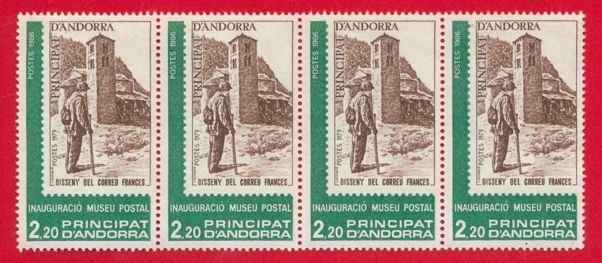 andorre-poste -2-francs-20-principat-andorra-inauguracio-museu-postal-1986