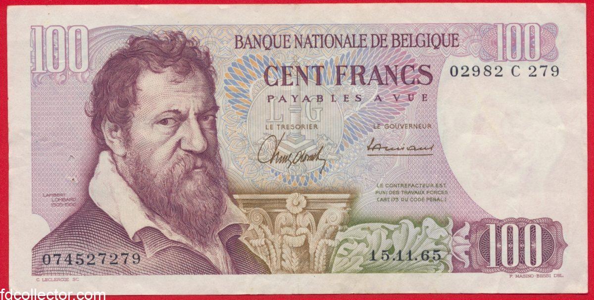belgique-100-francs-1965-franken-27279