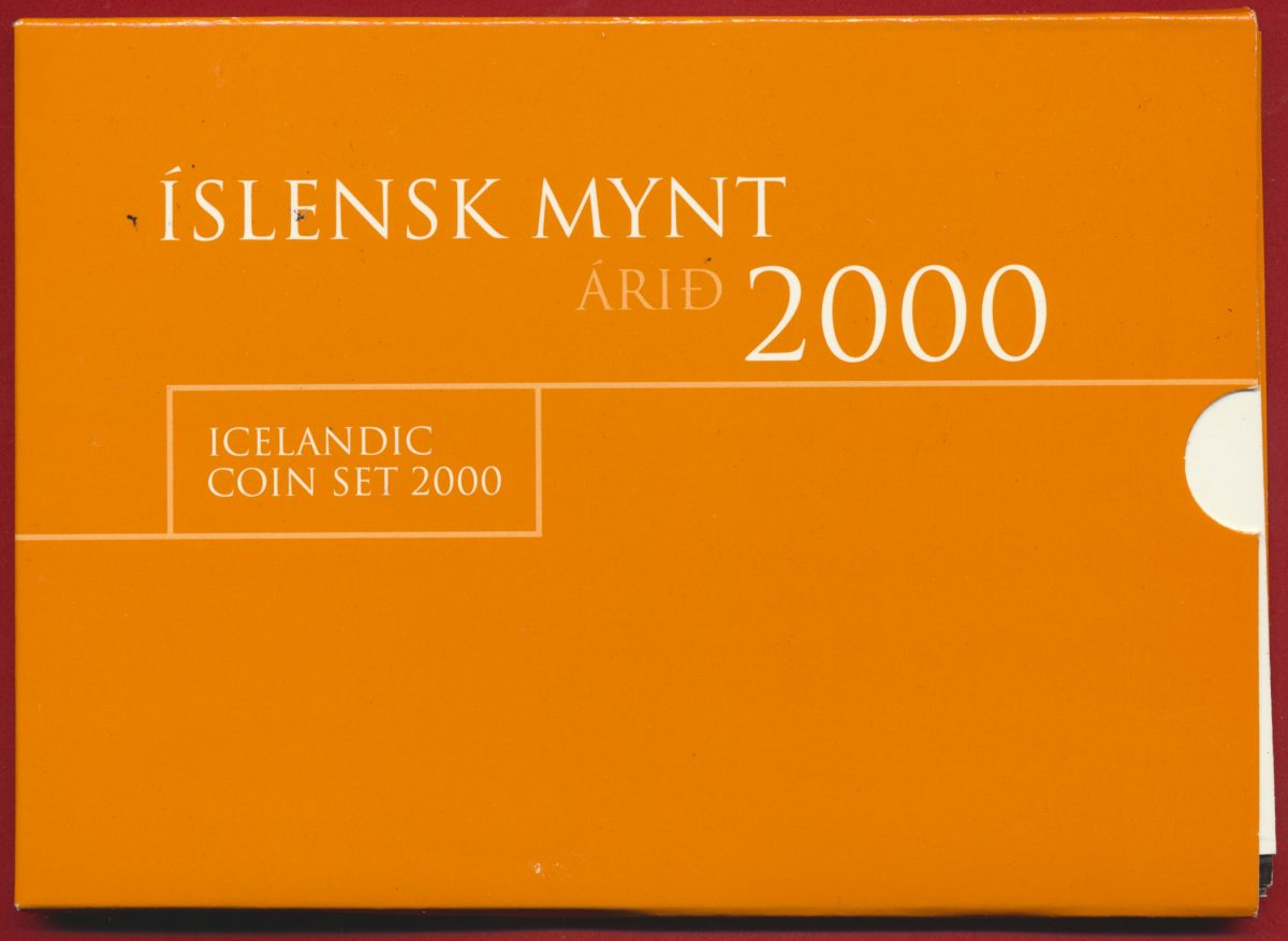 coffret-set-coin-islande-iceland-2000