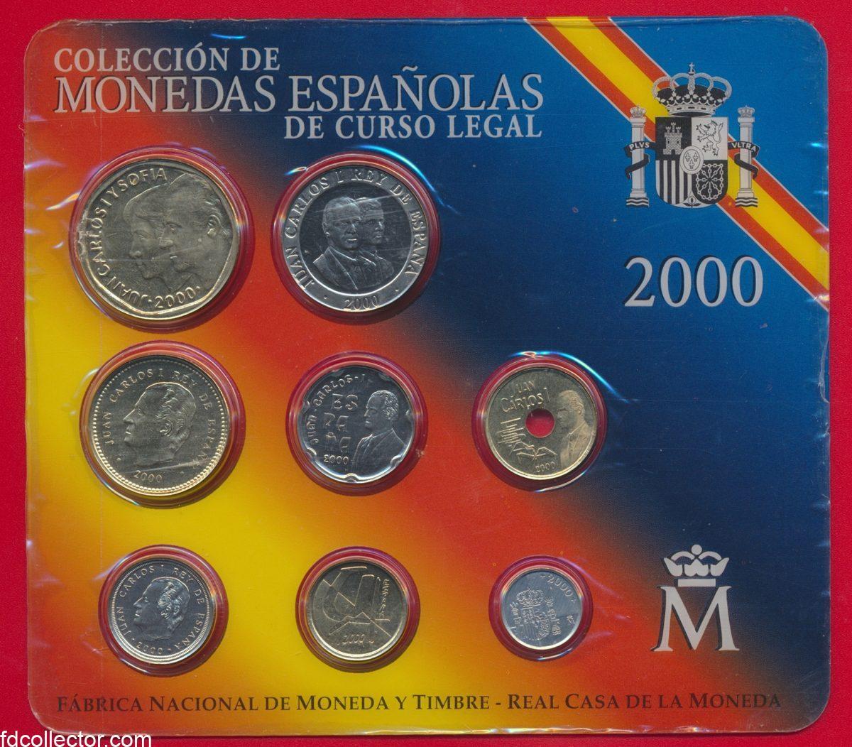 coffret-set-espagne-spain-monedas-espanolas-coleccion-2000-vs