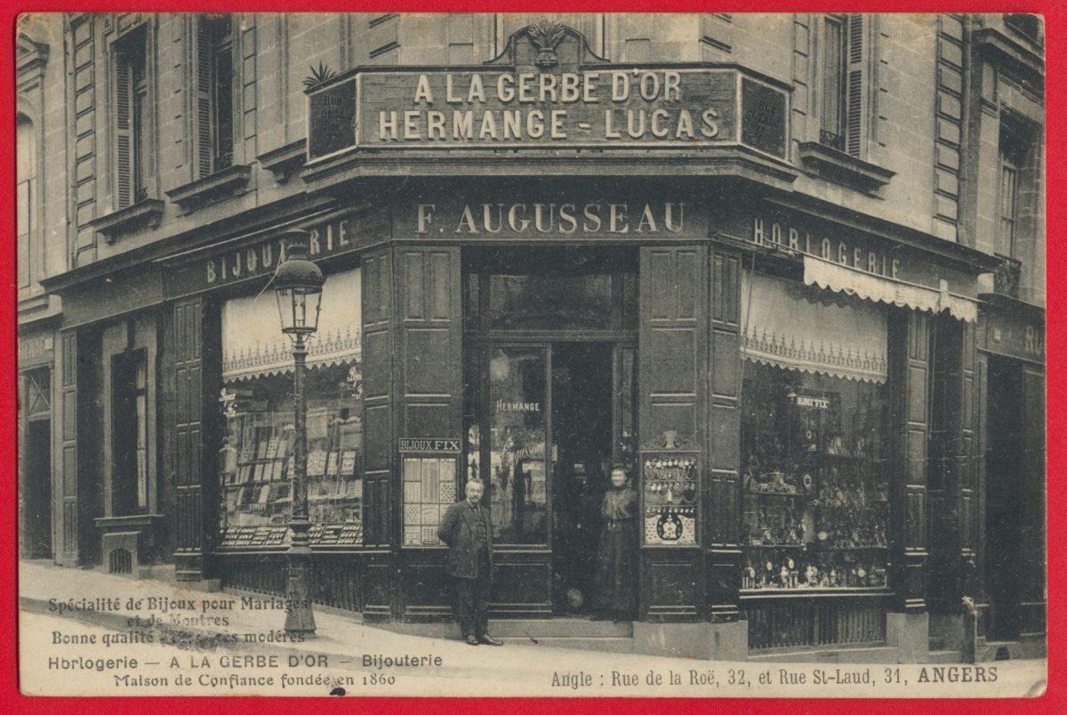 cpa-angers-gerbe-or-hermange-lucas-augusseau-bijouterie-horlogerie-laud-roe