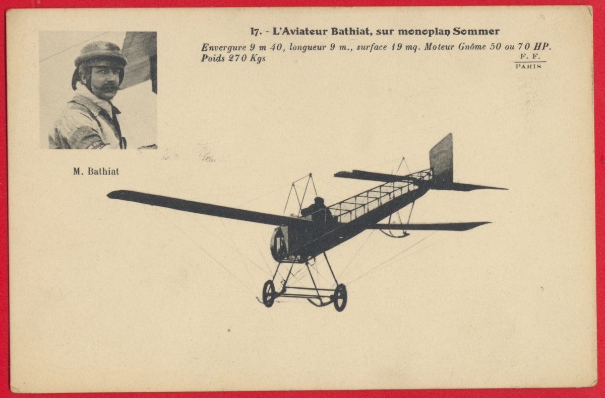 cpa-nantes-aviation-aout-1910-aviateur-bathiat-monoplan-sommer