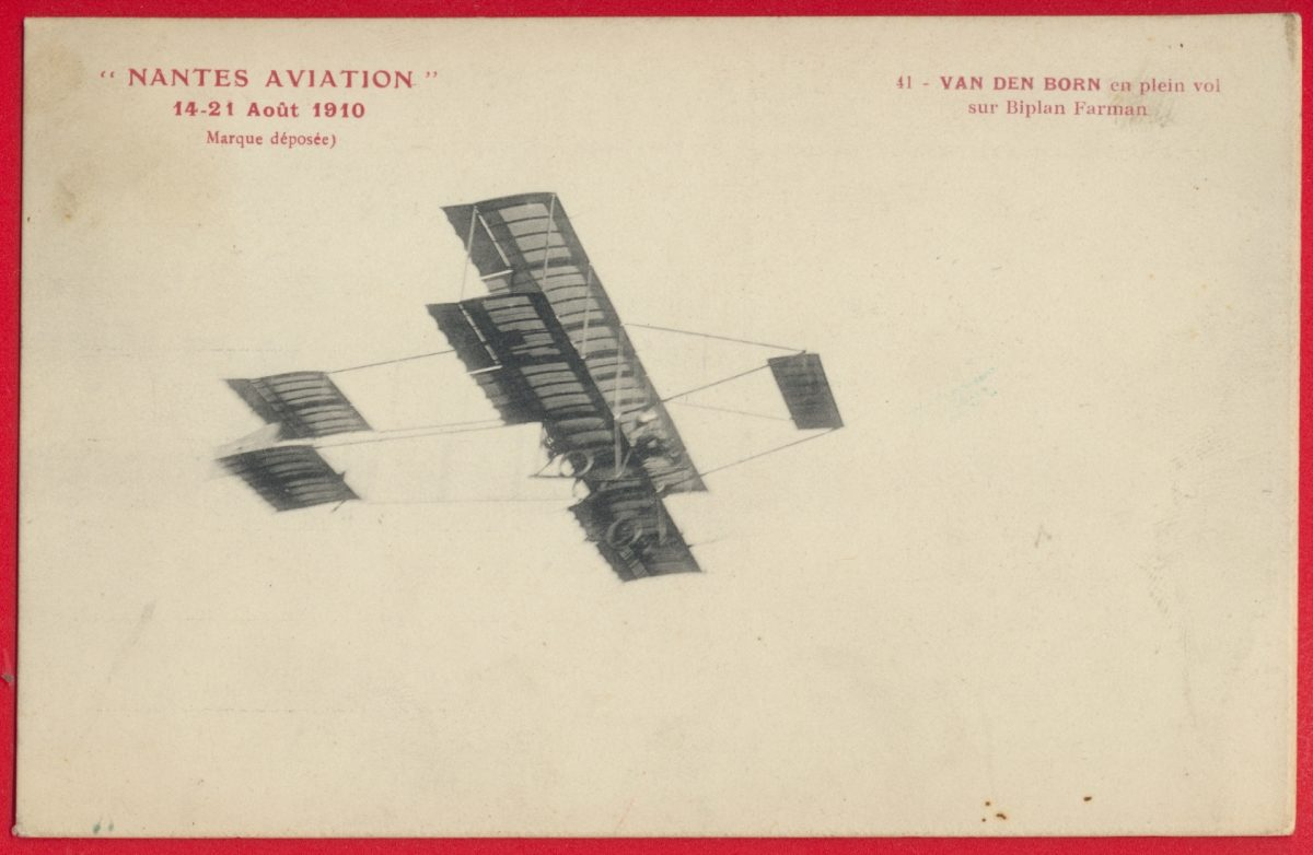 cpa-nantes-aviation-aout-1910-van-den-born-plein-vol-biplan-farman-vignette