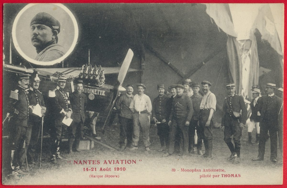 cpa-nantes-aviation-aout-1920-monoplan-antoinette-pilote-thomas
