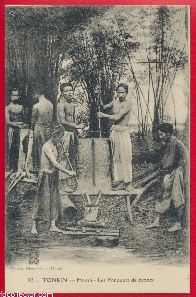 cpa-tonkin-hanoi-fondeurs-bronze