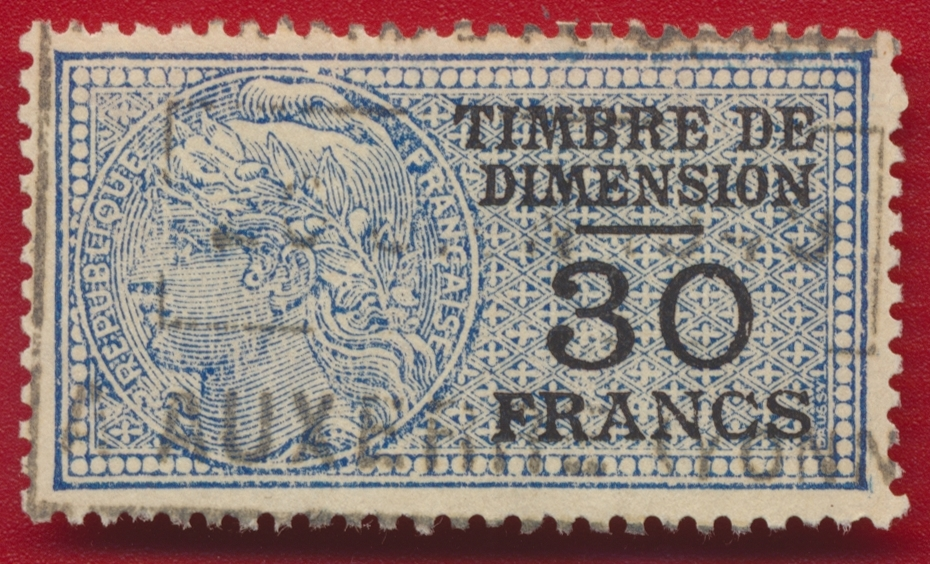 timbre-fiscal-fiscaux-dimension-30-francs