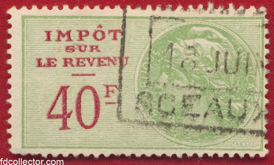 timbres-fiscaux-40-francs-impot-revenus