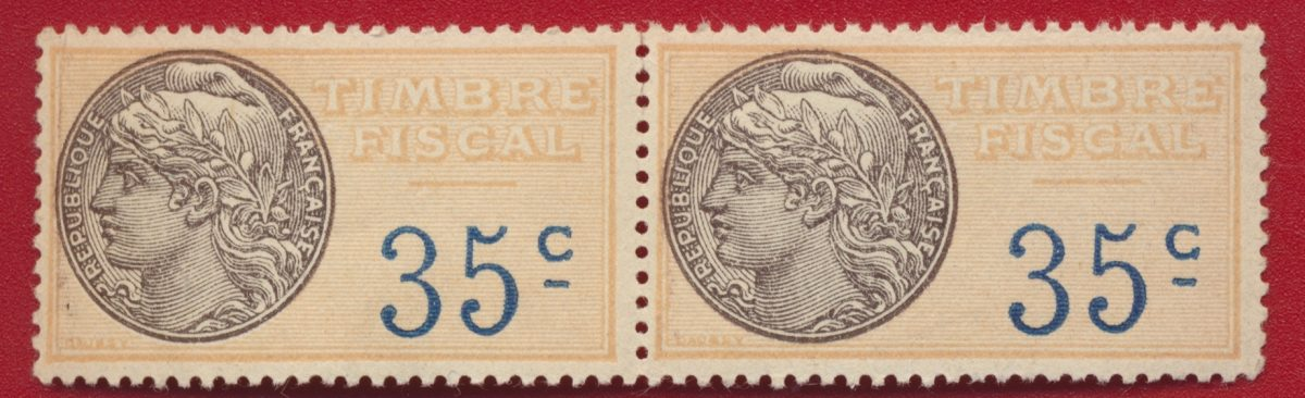 timbres-fiscaux-paire-fiscal-35-centimes