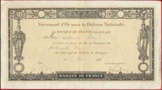 versement-or-pour-defencse-ationale-banque-france-1916-17