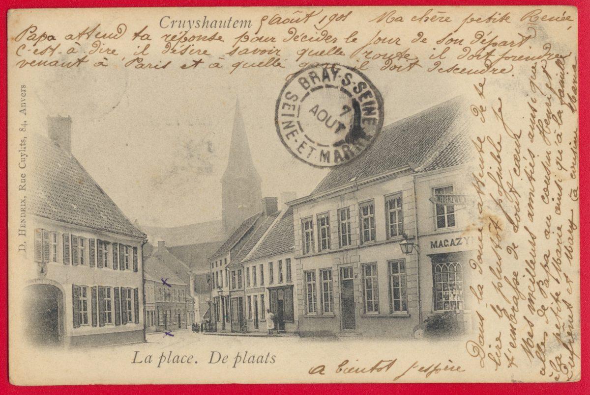 cpa-cruyshautem-place-plaats-belgique