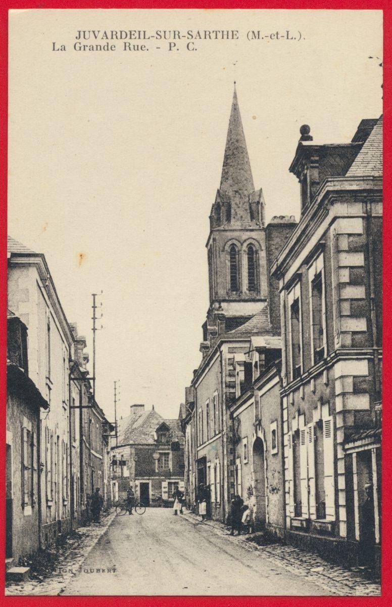 cpa-juvardeil-sur-sarthe-grande-rue
