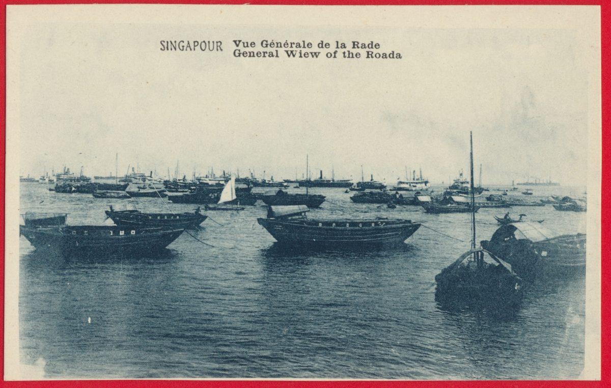 cpa-singapour-singapore-rade-roada-wiew-generale