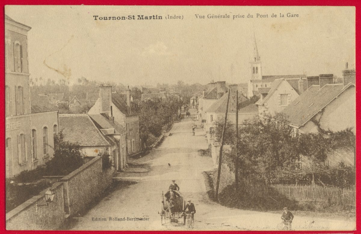 cpa-tournon-saint-martin-vue-generale-prise-pont-gare-indre