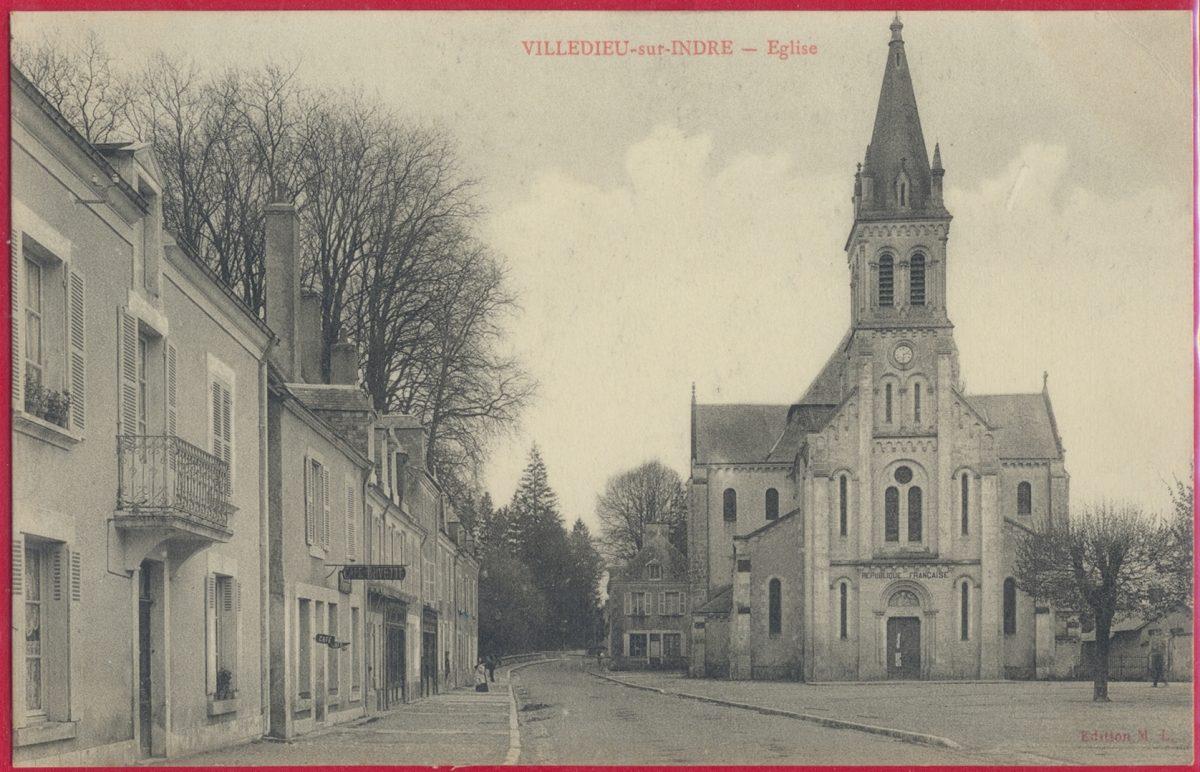 cpa-villedieu-sur-indre-eglise