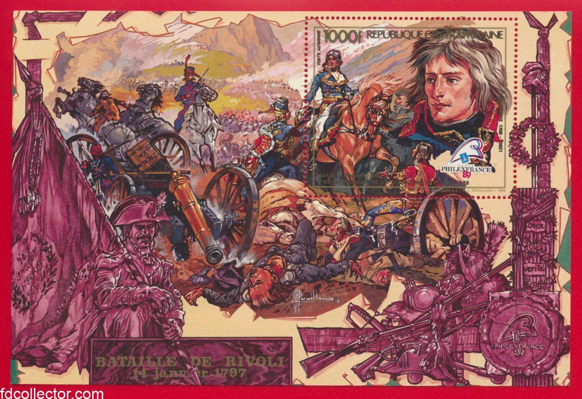 bloc-centrafrique-1000-francs-bataille-rivoli-napoleon-1797-philexfrance