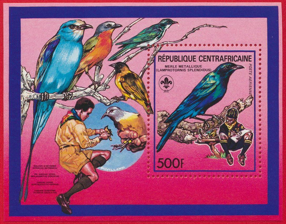 bloc-republique-centrafricaine-500-francs-merle-metallique-poste-aerienne