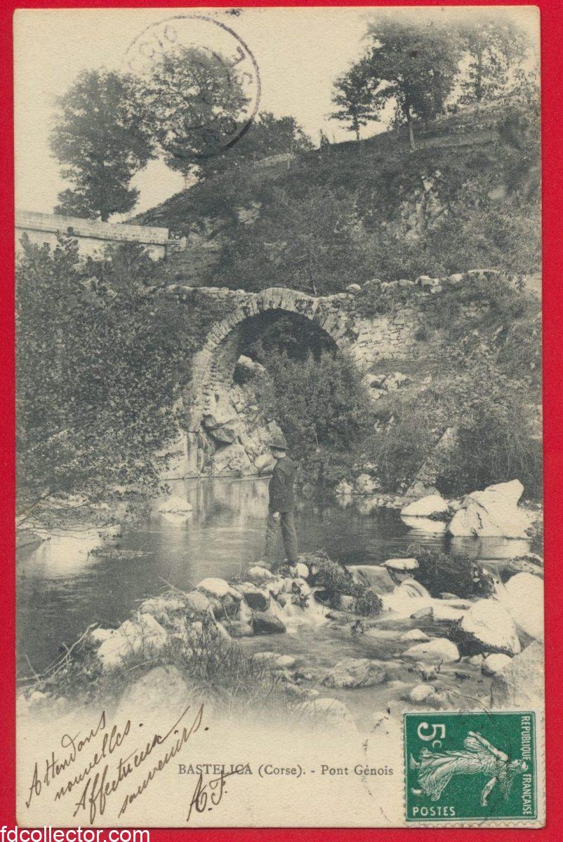 cpa-corse-bastelica-pont-genois