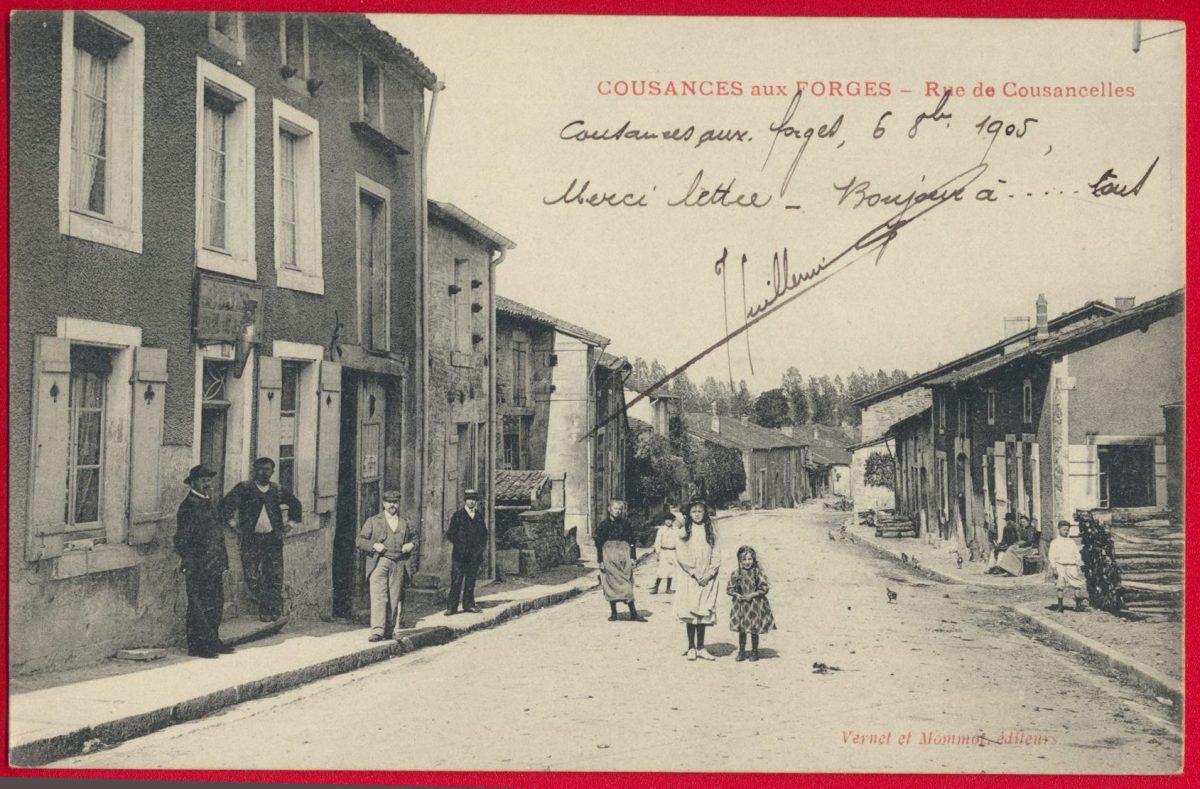 cpa-cousances-aux-forges-rue-cousancelles