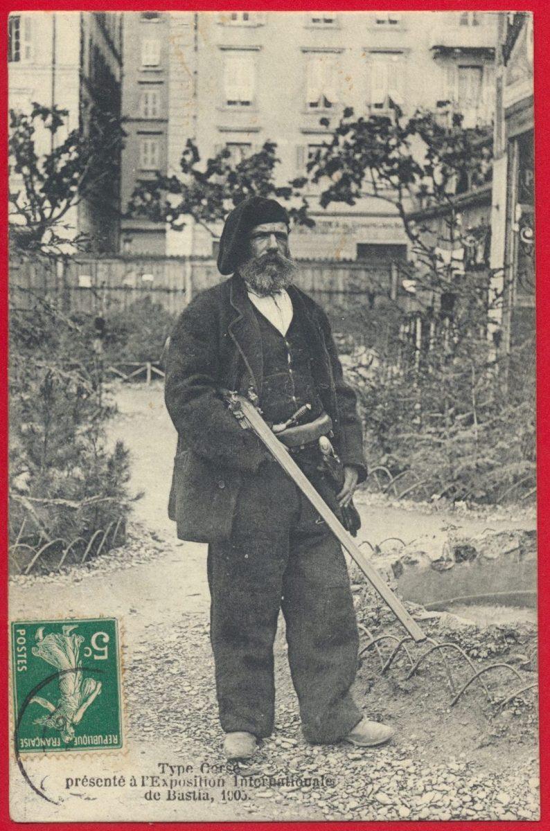 cpa-type-corse-presente-exposition-internationale-bastia-1905