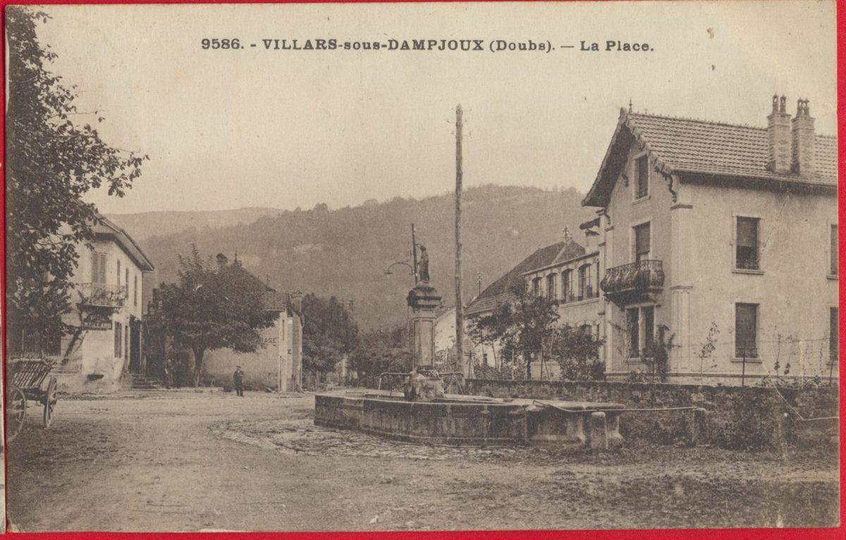 cpa-villars-sous-damjoux-doubs-place