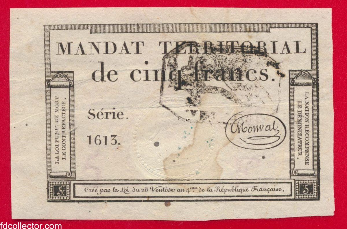 mandat-territorial-cinq-francs-serie-1613