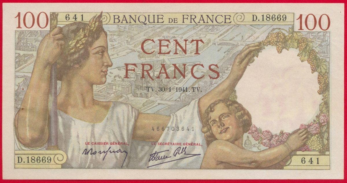 100-francs-sully-30-1-1941-18669