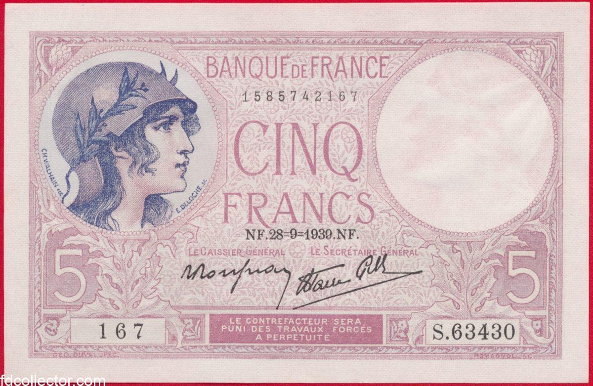 5-francs-cinq-28-9-1939-type-violet-3430-167