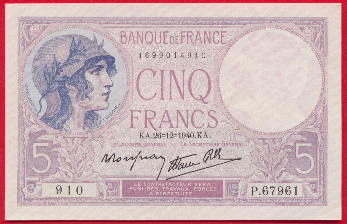 cinq-francs-26-12-1940-910-p67961