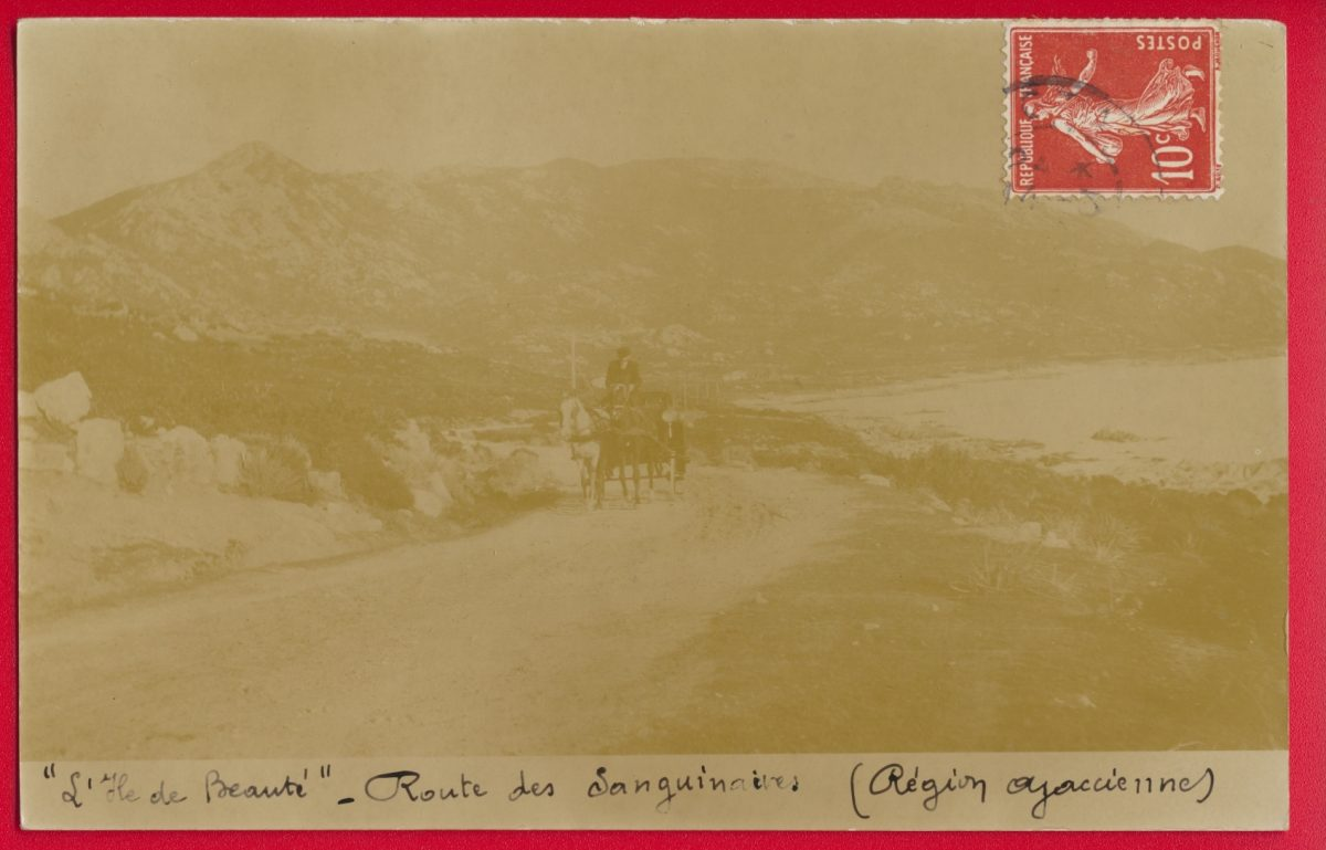 cpa-carte-photo-route-sanguinaires-ajaccio