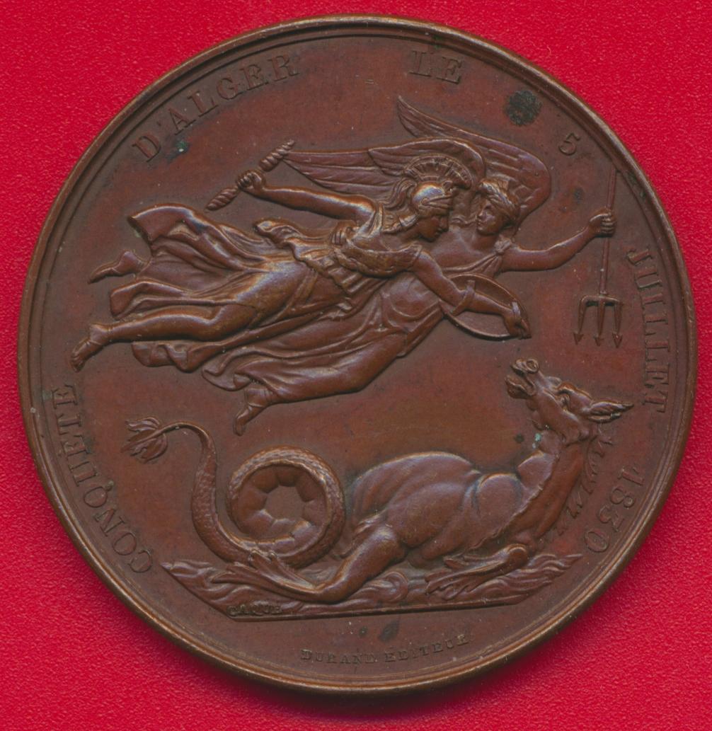 medaille-algerie-comte-bourmont-general-chef-armee-francaise-prise-alger-juillet-1830-vs