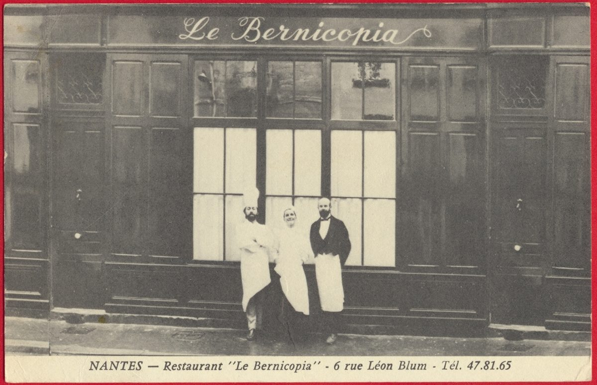 cpa-nantes-restaurant-bernocopia-rue-leon-blum
