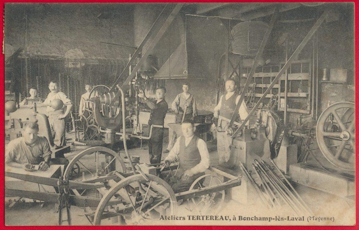 cpa-ateliers-tertereau-bonchamp-laval-mayenne