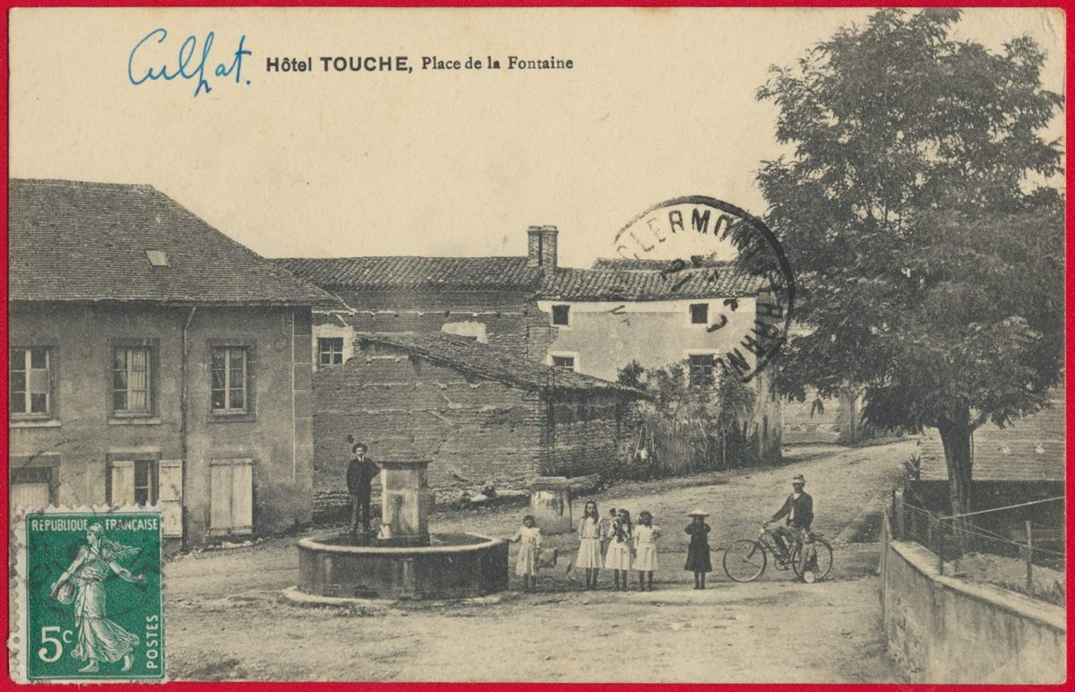 cpa-hotel-touche-place-fontaine-culfat