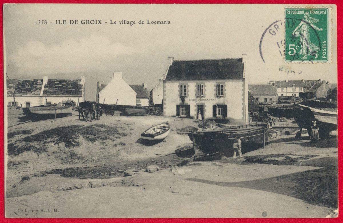 cpa-ile-groix-village-locmaria