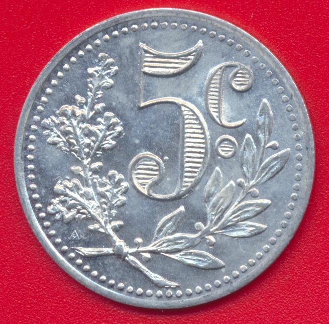 Algerie 5 centimes chambre de commerce d 39 alger 1916 for Chambre de commerce algerie
