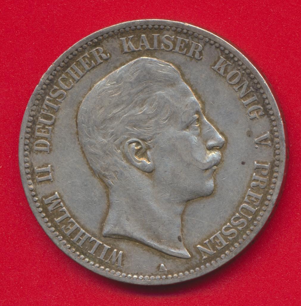 allemagne-prusse-5-mark-guillaume-ii-1904-a
