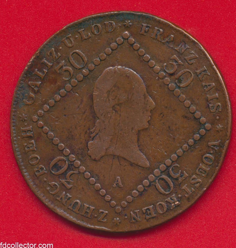 autriche-30-kreuzer-1807francois-ii