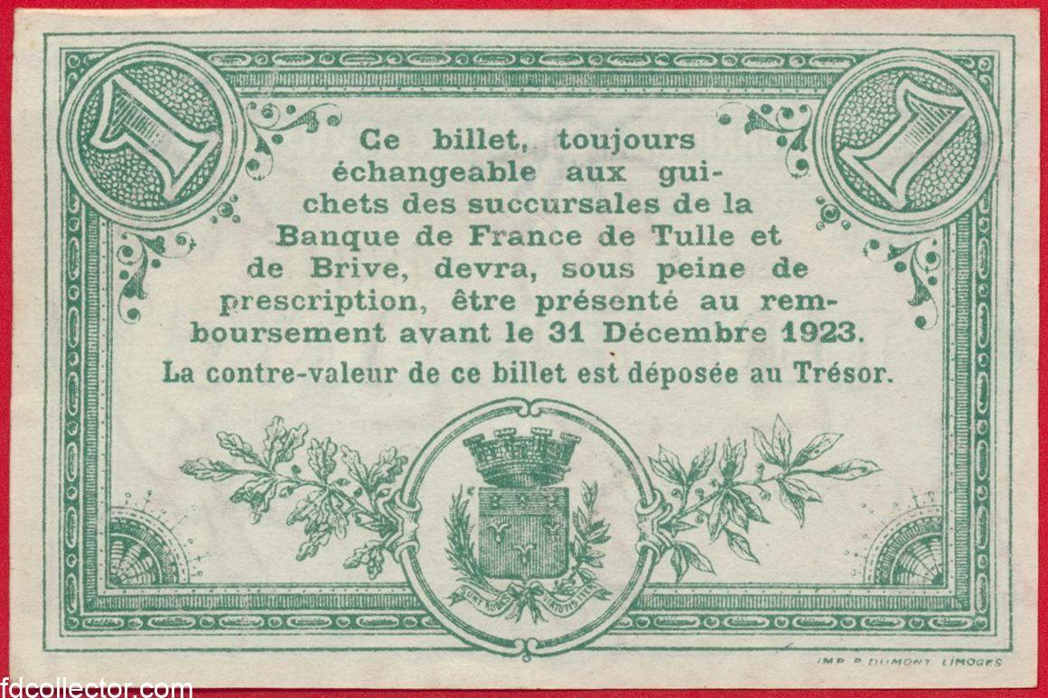 1 franc chambre de commerce de tulle fdcollector - Chambre de commerce 92 ...