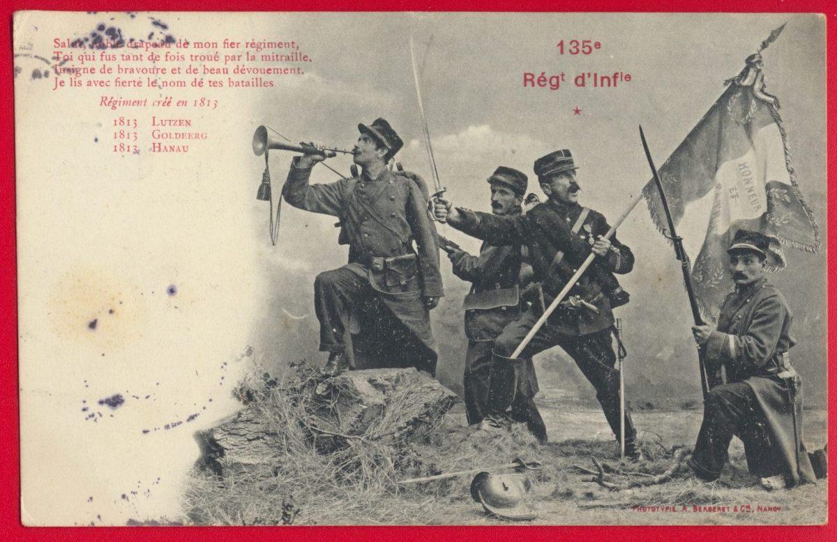 cpa-135-regiment-infanterie-lutzen-goldeerg-hanau-1813