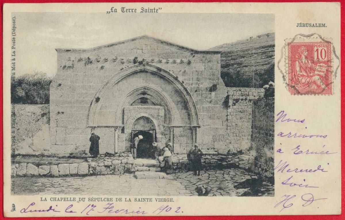cpa-jerusalem-terre-sainte-chapelle-sainte-vierge-sepulcre