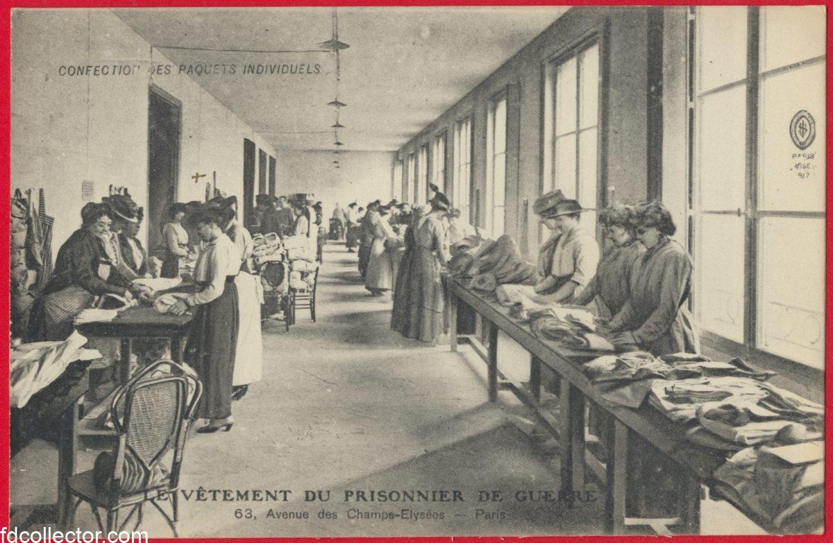 cpa-vetement-prisonnier-guerre-63-champs-elysee-paris