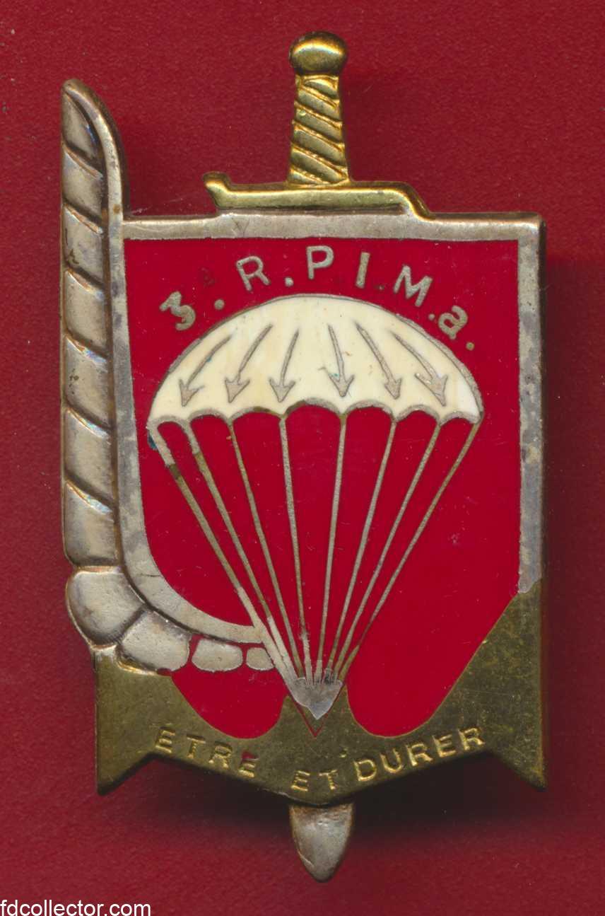 insigne-11-division-parachutiste-etre-durer-3-rpima-infanterie-marine