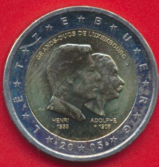 2-euro-commemorative-luxembourg-2005-grands-ducs