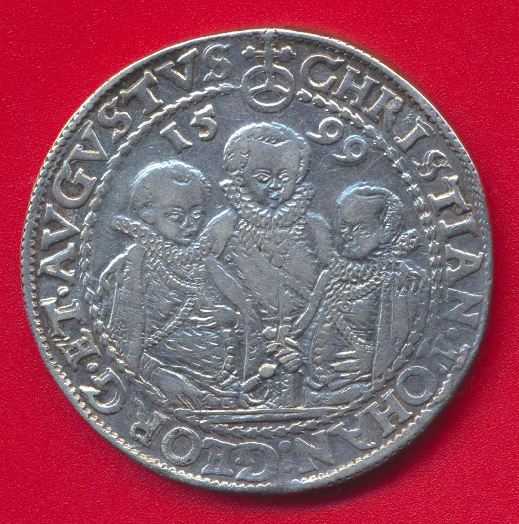 allemagne-saxe-albertine-duche-regence-3-freres-thaler-1599