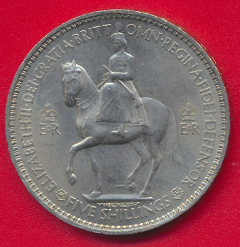 angleterre-grande-bretagne-5-shillings-crown-1953-elisabeth-queen-vs