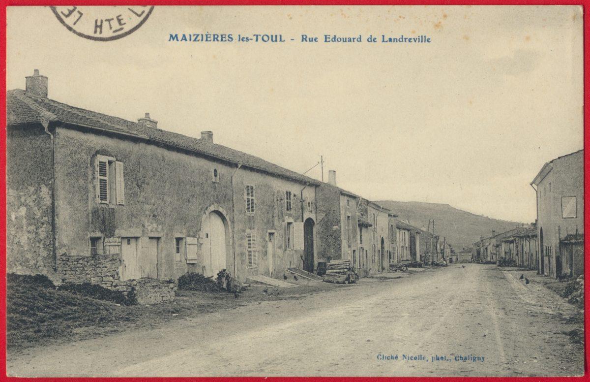 cpa-maizieres-les-toul-rue-edouard-landreville