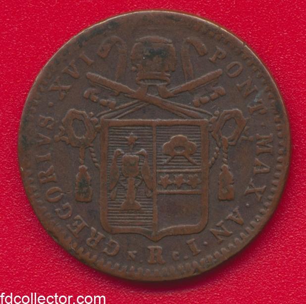 vatican-mezzo-baiocco-romano-1831-gregoire-xvi-vs