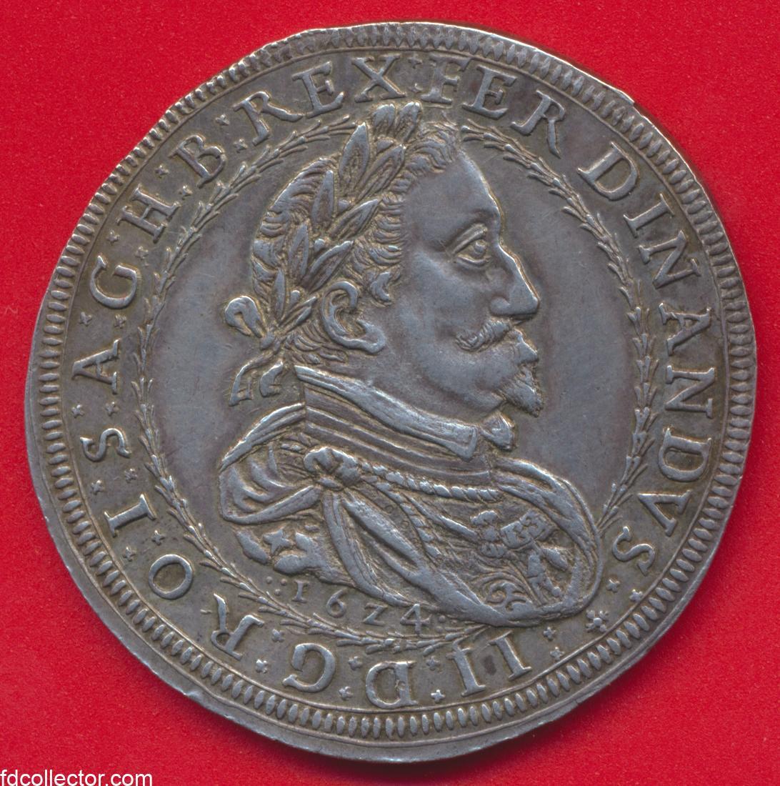 autriche-ecu-1624-16z4-graz-ferdinand-thaler-argent