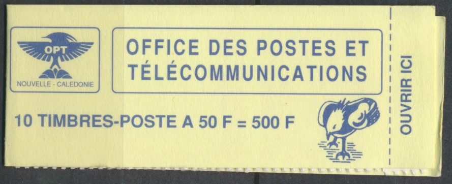 carnet-10-timbres-office-postes-telecommunictions-nouvelle-caledonie